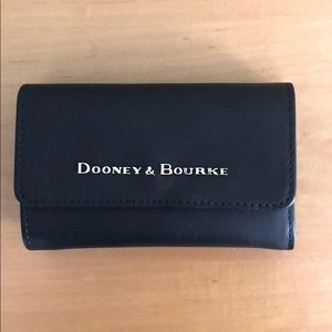 Dooney & Bourke Flap Trifold Leather Black Wallet